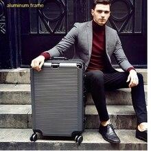 حقيبة سفر جديدة أنيقة للغاية بإطار من الألومنيوم مزودة بعجلات 26 بوصة حقائب سفر مزودة بعجلات 20 بوصة 24 بوصة