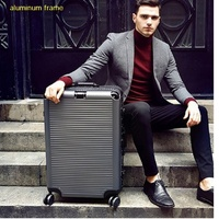 Super fashion NEW spinner aluminum frame hardside travel suitcase on wheel 26 travel bags trolley luggage bag 20 24