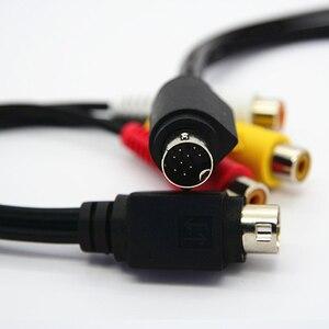 Image 4 - MMI AV 케이블 9 핀 S VIDEO TV 어댑터 코드 케이블 용 3 RCA 구성 요소