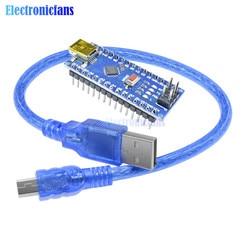 Nano V3.0 3,0 Mini USB conductor ATmega328 ATmega328P 5V 16M Micro controlador CH340 para Arduino Cable Usb reemplazar FT232RL ISP