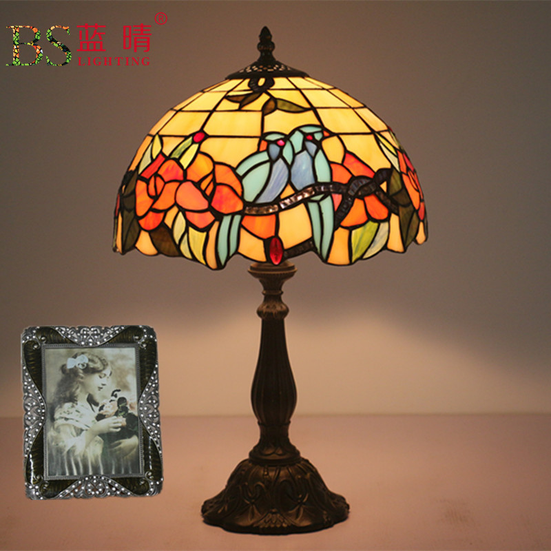 Us 140 5 36 Off Fashion Design Turkish Mosaic Lamps E27 Base Handmade Gl Lampsahde Bedroom Bedside Vintage Table Lamp Light Fixtures In