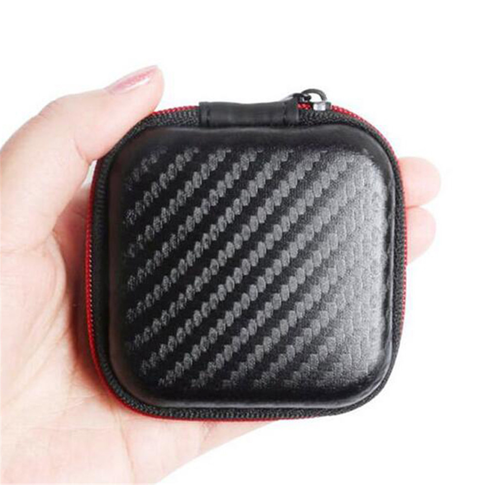 Protable Earphone Case For Headphones case Mini Fiber Zipper Storage Box Hard Bag Headset Case for SD TF cards Earphones kz headset storage box suitable for original headphones as gift to the customer