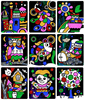 9pcs Set Cute Cartoon DIY Magic Transfer Wticker Transfer Painting Crafts for Kids Arts And Crafts Toys for Children Gift GYH flash sale