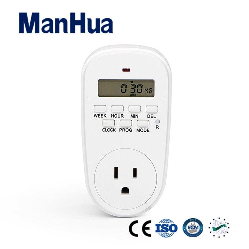 Werkzeuge Initiative Manhua Usa 110 V 24 Stunden 15a Stecker In Multifunktionale Countdown Zufällig Auf Off Sommer Winter Tg-10el Digitale Timer Messung Und Analyse Instrumente