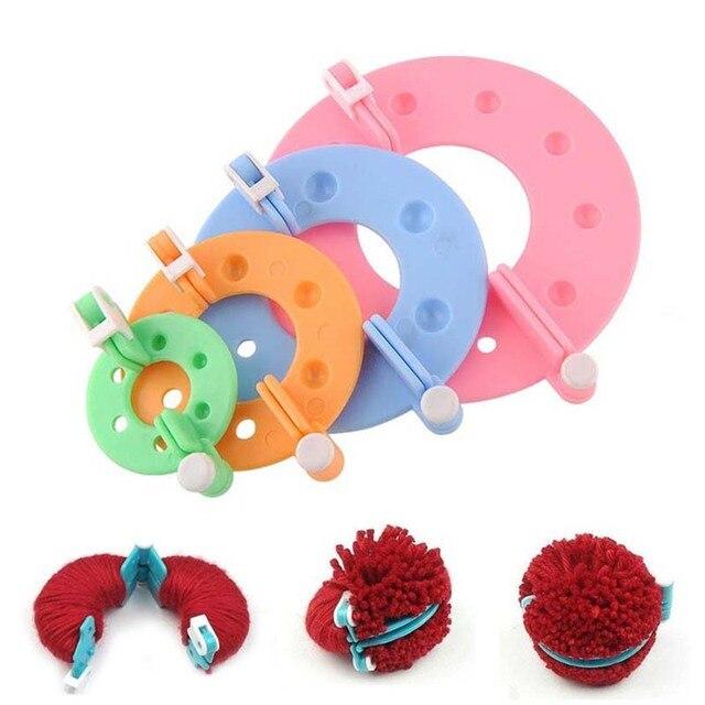 Pom-pom-maker-outils-pour-le-tricotage-a
