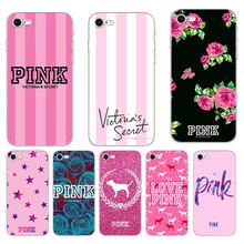 ddf708e004c Victoria Pink Color Phone Cases Cover For iPhone 6 6s 7 8 Plus XS MAX X