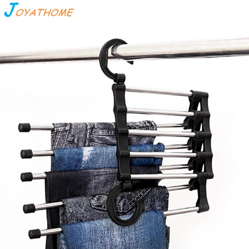 Joyathome Multi Layer Pants Ties Scarf Shawl Storage Rack Magical Clothes Hanger Magic Pants Rack Drying Racks Home Accessories in Drying Racks Nets from Home Garden