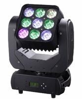 8pcs/lot professional stage light 9*10w 4 in 1 rgbw led beam moving head matrix stage lighting for dj disco mini projector ktv