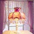 Европейский свадебные украшения настольная лампа романтические кружева лепестки фиолетовый настольная лампа творческий дом декоративные лампы