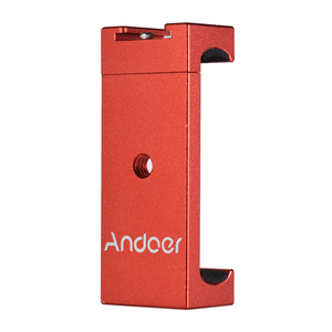 Image 2 - קליפ מחזיק סוגר חצובה הר מתאם טלפון Andoer עם נעליים קרים iPhone X 8 7 6 s 6 5 plus עבור סמסונג סוני Smartphone