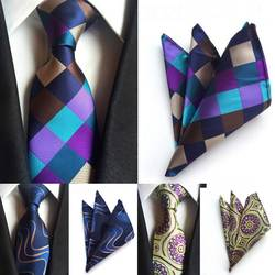 SKng Новая мода Для мужчин s Галстуки Галстук Пейсли носовой платок наборы Для мужчин 100% шелковые галстуки Для мужчин галстук Карманный