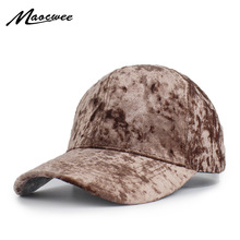 New Faux Velvet Baseball Cap Women Plain Black Snapback Men Winter Fashion  Pure Caps Flat Dad 1091e5409aa8