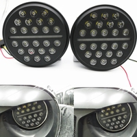 2pcs For Jeep Wrangler JK TJ 72W 7inch Round LED Headlight H4 High Low Beam Auto