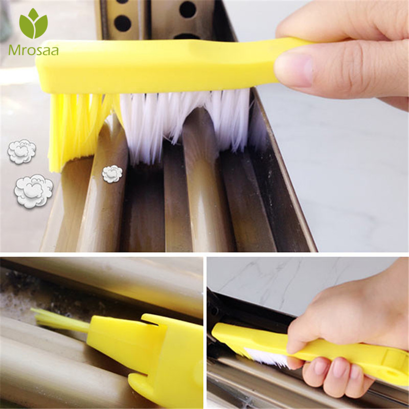Multipurpose Window Recess Groove Cleaning Brush Nook Cranny Household Home Crevice Brush Cleaning Tool Kitchen Accessories