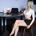 Пикантные Для женщин Обтягивающие юбки-карандаш Милая юбка из материала Ice Silk прозрачная микро мини-юбка прозрачные туфли из органической к...
