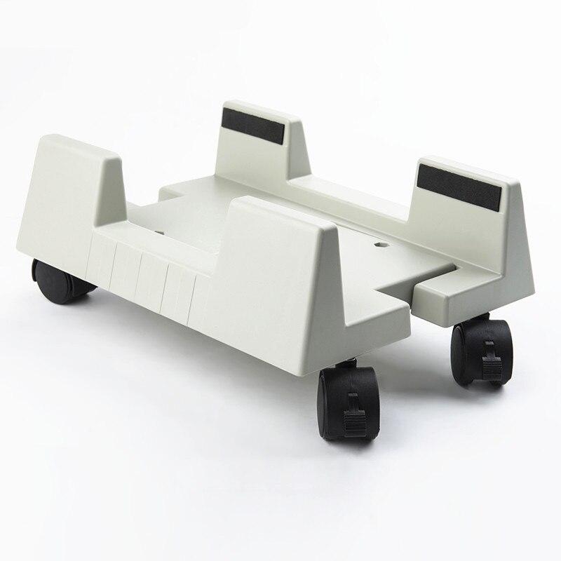 Desktop Pc-gehäuse CPU Ständer Halter computer turm Rollende Räder Breite Verstellbar