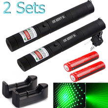 Green Laser sight High Power hunting Dot tactical 532 nm 5mW lasers 303 pointer verde lazer Pen Head Burning Match