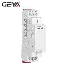 Бесплатная доставка GEYA GRM8 на din-рейке модуль реле с блокировкой 12 В 24 В 220 В AC DC защелка реле с CE CB сертификат
