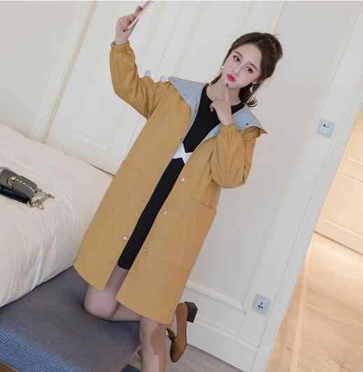 c998deb319742 ... Fdfklak Plus size clothes for pregnant women both sides wear jacket  autumn winter trench coat windbreaker ...