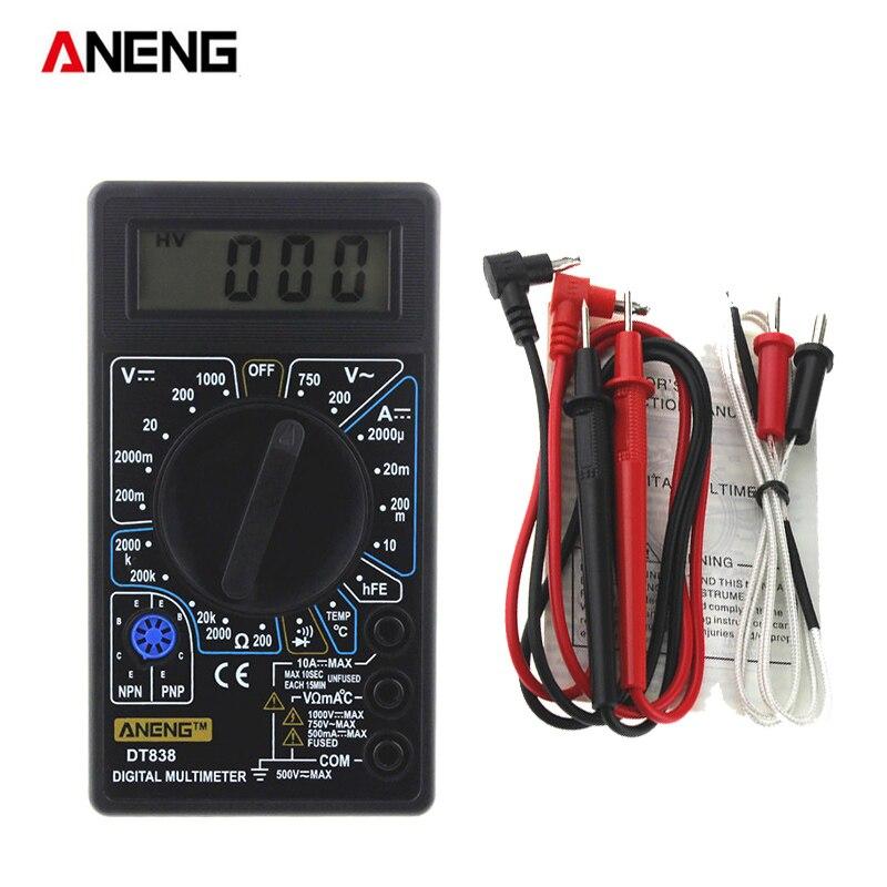Digital LCD Multimeter Voltmeter Stromprüfer Kapazität Messgerät Diodentest