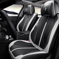 3D Sports Cushion Leather Black Red Orange Car Seat Cover For Toyota Camry 40 Corolla RAV4 Verso FJ Land Cruiser LC 200 Civic