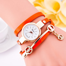 Casual Leather Bracelet Wristwatch