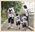 New arrival 3pcs/lot Mickey Minnie Family summer Children T shirt family set parent child costumes,Baby short-sleeve T-shirt
