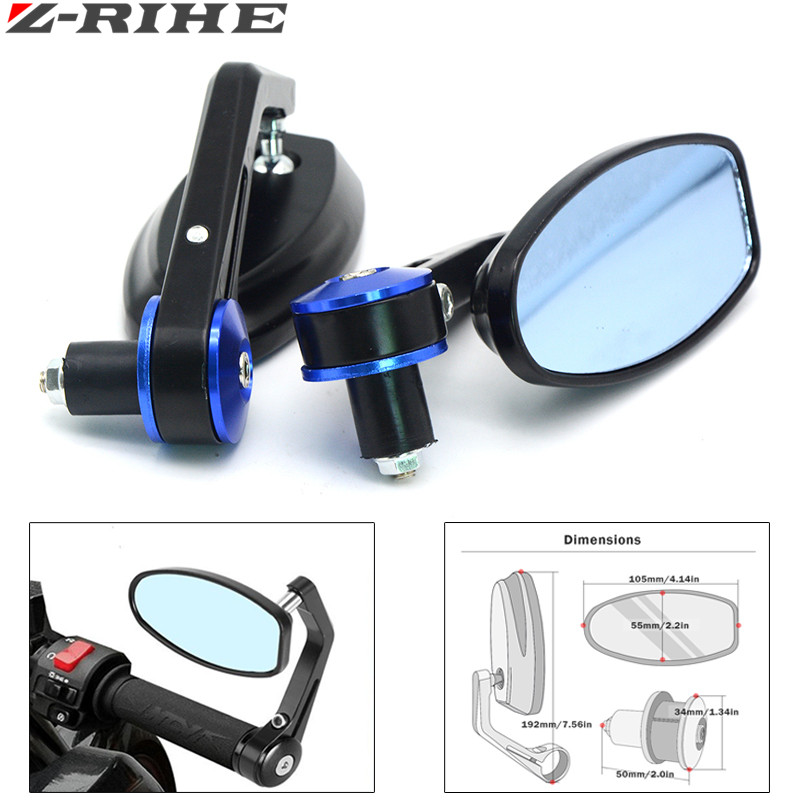 Universal motorcycle Scooter Rearview Mirrors for yamaha YZF R125 R15 R25 r 125 15 25 mt-07 mt-09 mt 07 09 MT-09 FZ07 FZ09 tmax