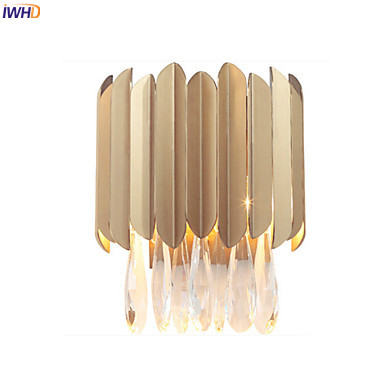 IWHD Nordic Modern LED Wall Lamp Living Room Hotel Beside Stair Light Cristal Wall Lights Sconce Arandela Cristal Lustres WIWHD Nordic Modern LED Wall Lamp Living Room Hotel Beside Stair Light Cristal Wall Lights Sconce Arandela Cristal Lustres W