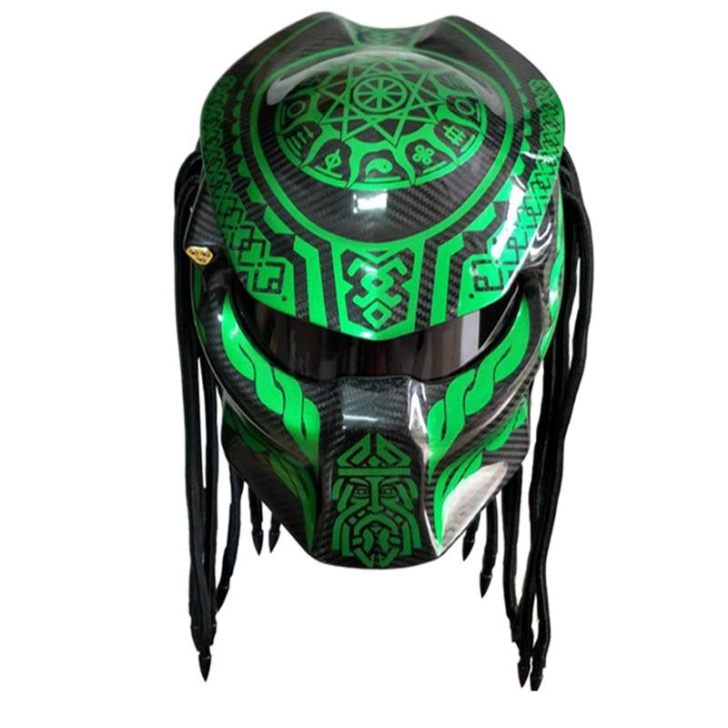 Vcorcs Predator Carbon Fiber Devil Full Face Motorcycle