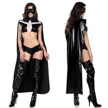 Сексуальный костюм Бэтмена из искусственной кожи, женское нижнее белье, сексуальный костюм Бэтмена