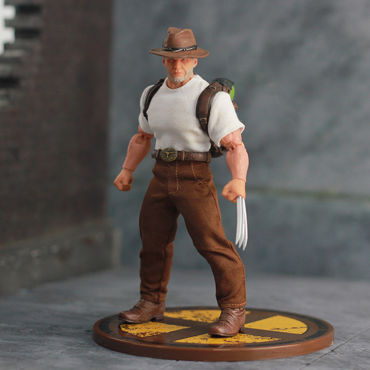 Mezco Ant Marvel Aging Old James Logan Howlett Wolverine 3 Anime Figures Action Figure Model Toys for Collector 6 inch high quality 16cm pvc model x men wolverine james howlett logan howlett action figure doll model toy children gift