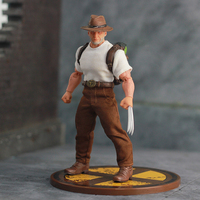 Mezco Ant Marvel Aging Old James Logan Howlett Wolverine 3 Anime Figures Action Figure Model Toys for Collector 6 inch