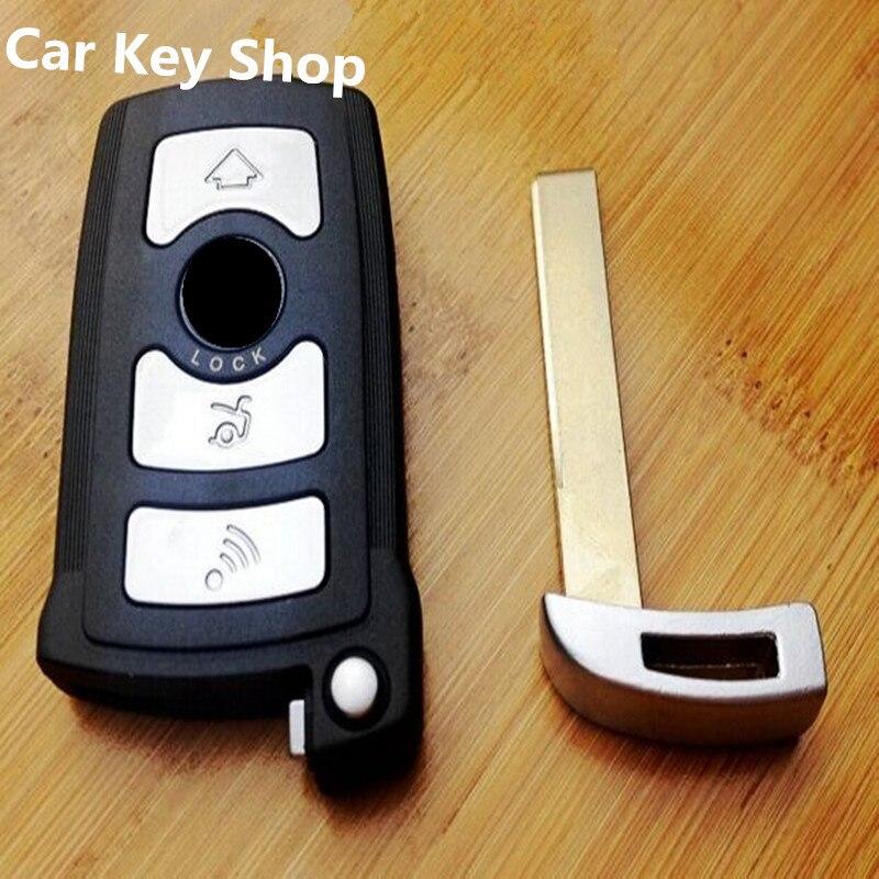 Envío Gratis Smart Remote Key sin llave entrada carcasa Fob 4 botón para BMW serie 7 730.745.740.750.760 carcasa de tarjeta inteligente Alarma de automóvil, motor de arranque y parada, pulsador Starline, interruptor de ignición RFID, sistema antirrobo de entrada sin llave