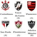For Export Only Brazil Football Club Badge Sport Souvenirs Usb Flash Drive 8GB Corinthians/Flamengo/Santos/palmeiras Team Logo