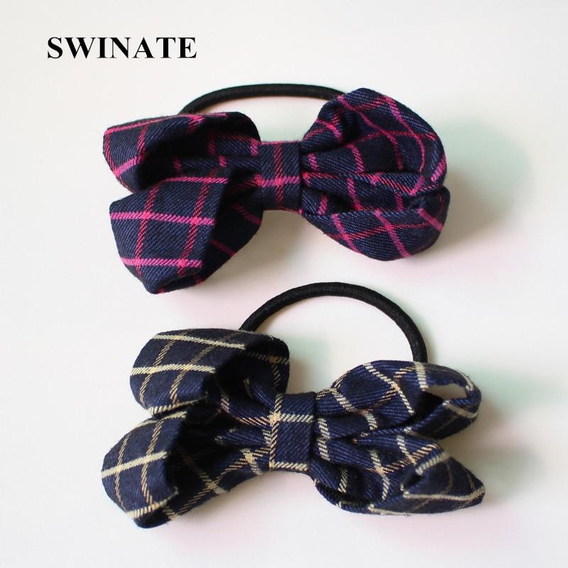 handmade plaid print ribbon bow