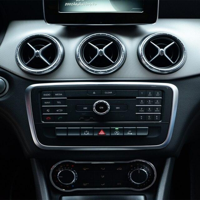 Car styling decorative moulding aluminium alloy console panel cover trim for  mercedez benz GLA CLA A B 8dcceb0d7b94
