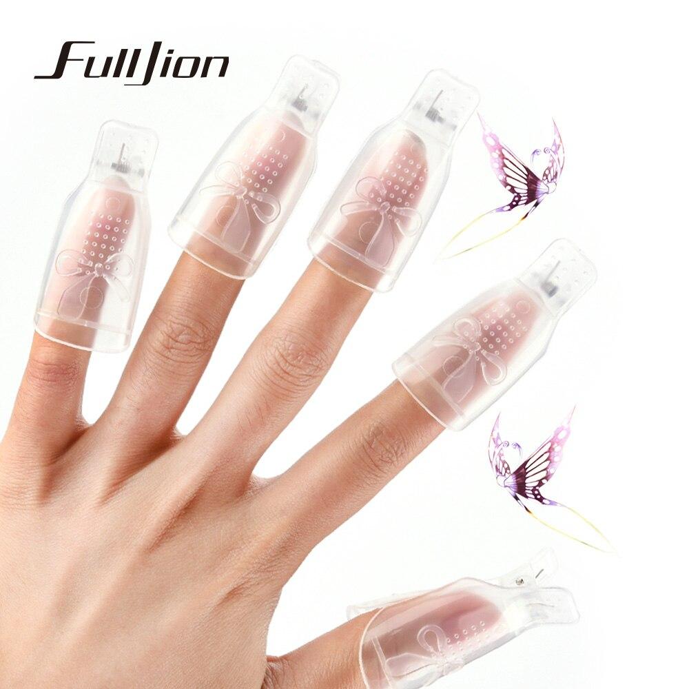 Fullljion 10pcs/set Wearable Acrylic Nail Art Soak Off Cap