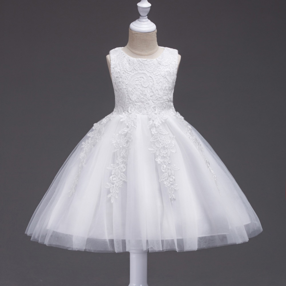New Year's Dress Flower Girls Dress Fashion Baby Girl White Wedding Dress for Kids Clothes Monsoon Girl Bow Lace Dresses Vestido цены онлайн