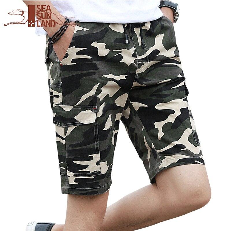 897d26e0372 SeaSunLand Camouflage Camo Shorts Men 2017 New Arrival Mens Casual Shorts  Male Work Shorts Man Military Short Pants Plus Size