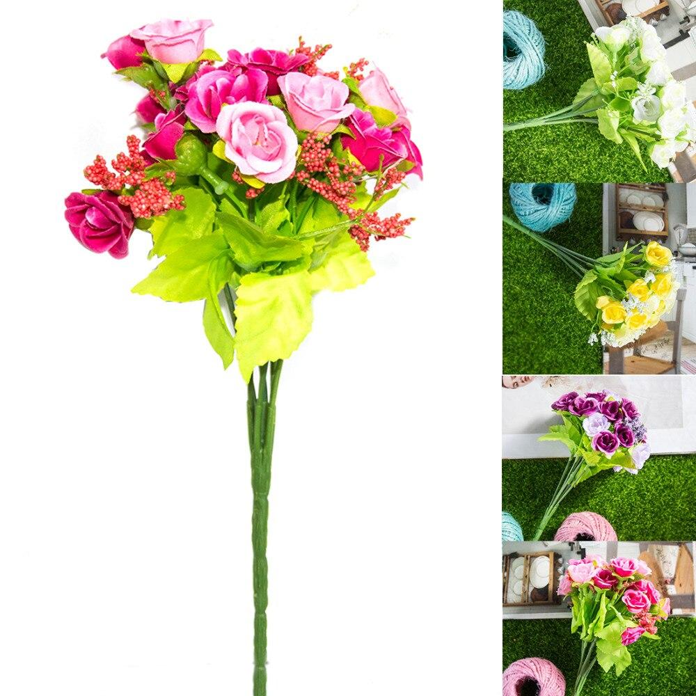 Big Sale 21pcs Artificial Perfect decorative Rose flowers Silk ...