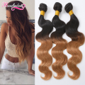 1B/27 Colored Ombre Human Hair Extensions 4 Bundles 8A Unprocessed Ombre Body Wave Peruvian Virgin Hair Ombre Weave Bundles Weft