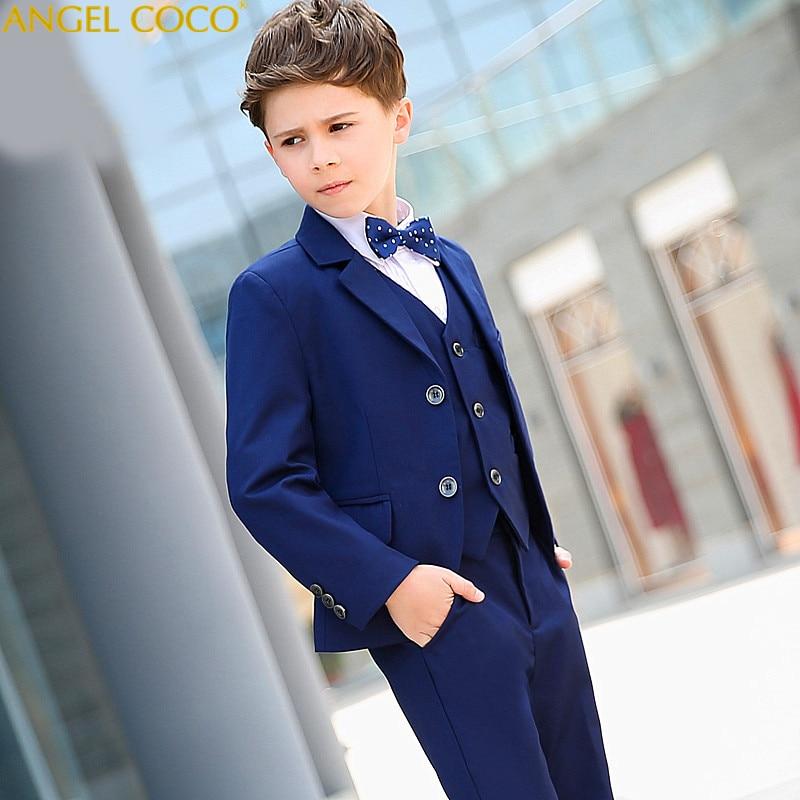 цена на Formal Occasion Suit Children Wedding Suits Blazers Boys Attire Boys Suits Gentleman Style Blazer Suits Boy Costume Garcon 2018