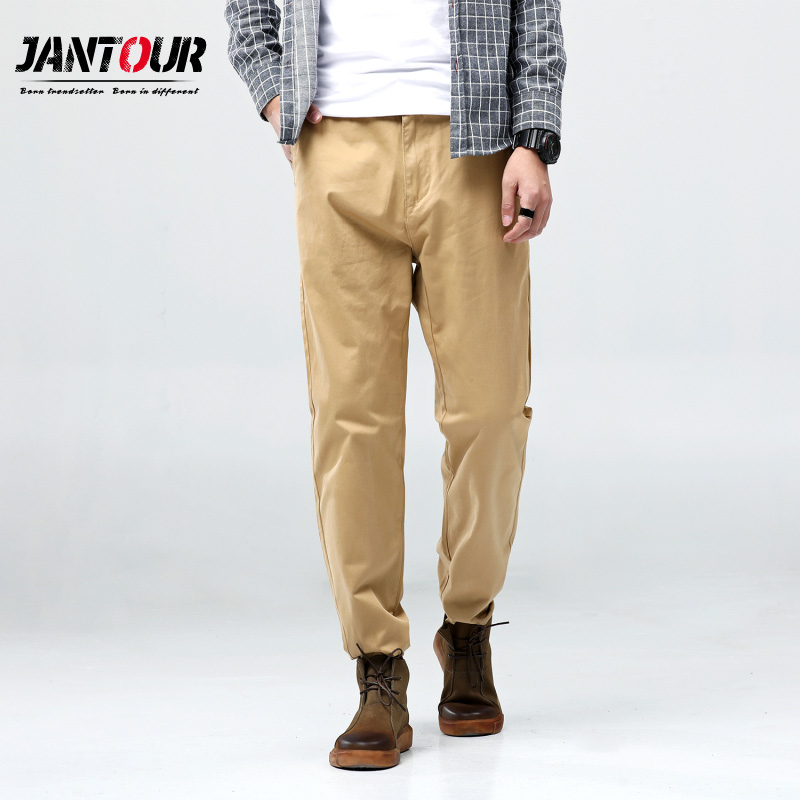 Casual Pants Chinos Clothing Green Trousers Slim-Fit Male Men Cotton Large-Size Fashion