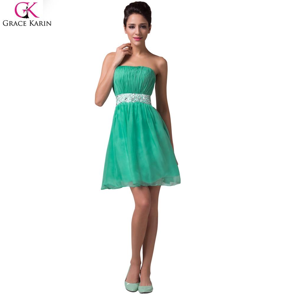 Grace karin luxus cocktailkleider 2017 mint green short party prom ...