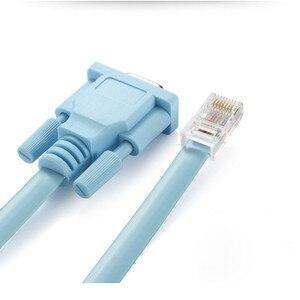 Image 3 - Cat5 Ethernet כדי Rs232 DB9 יציאת COM סידורי נקבה כבל באיכות גבוהה RJ 45 כדי DB רשת מתאם כחול 1.5 m 5Ft Mayitr 0508