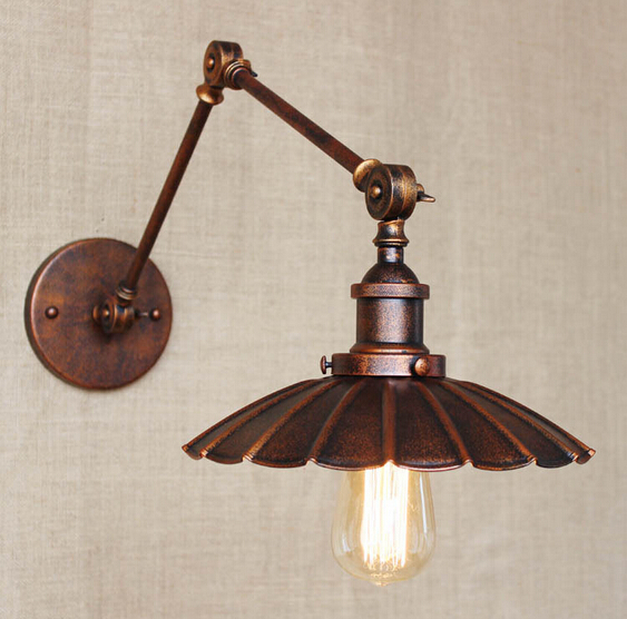 Iron Adjustable Loft Industrial Wall Light Fixtures Vintage Beside Lamp Sconce For Bar Cafe Home Indoor Lighting Lampara Pared loft style iron edison wall sconce industrial lamp wheels vintage wall light fixtures antique indoor lighting lampara pared