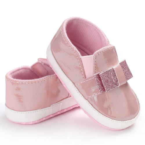 Baby Girls PVC Glitter Crib Shoes Newborn Toddler Pink White Soft Sole Bling Sneakers Anti Slip Prewalker Summer
