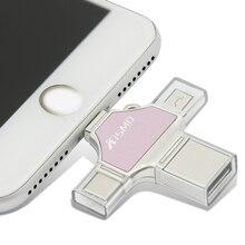 Kismo 4 в 1 USB флеш-накопитель мини-карта памяти OTG ручка-накопитель для iphone 6/7/8/X S8 S9 Note 8 huawei P10 P20 mate 10 Xiaomi Mi8
