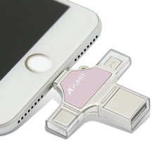 High quality Mini 4 in 1 usb flash drive Type-c for iPhone Samsung Android phones laptop